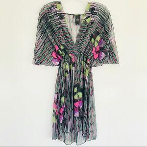 Bisou Bisou Sheer Kimono Dress Size Large